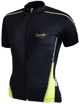 Santini Fietsshirt Ladies Short Sleeve Black Neongeel