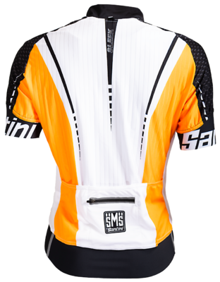 Santini Fietsshirt Korte Mouw Wit Oranje