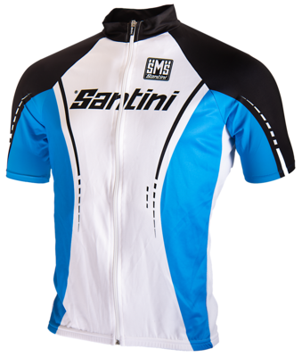 Santini Cycle Shirt Blue And White
