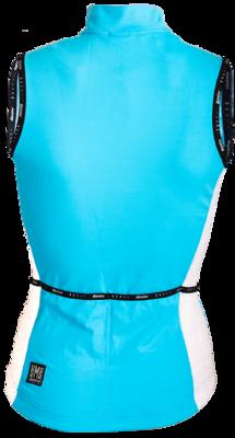 SantiniFietsshirt Mouwloos Turquoise Dames