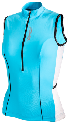 Cycleshirt Sleeveles Turquoise Ladies