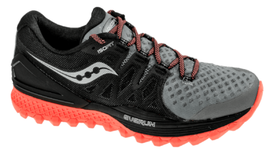 Saucony Xodus ISO 2 grey/black/vizi red