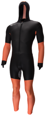 Speedskating Suit Noir/Orange