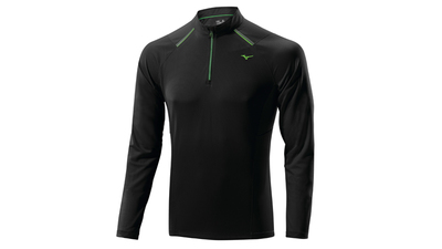 Mizuno WarmaLite 1/2 Zip LS black