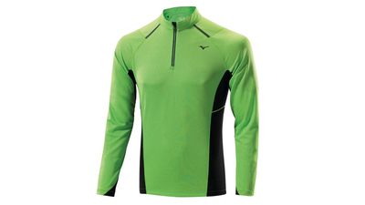 Mizuno Mizuno WarmaLite 1/2 Zip LS green flash
