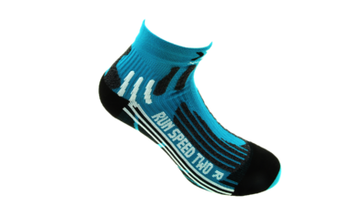 X-Socks Running Speed Two Lady short black/aqua