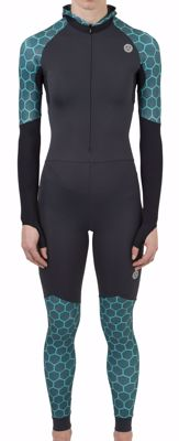 AGU Lycra speedsuit with cap women Tile Green/Grey
