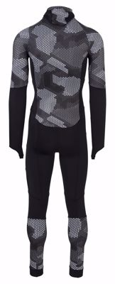 AGU Lycra schaatspak met cap Hexa Camo Black/Iron Grey