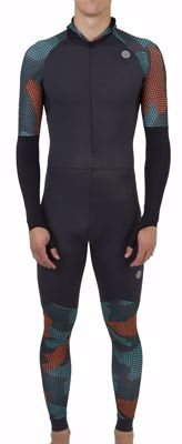 AGU Lycra speedsuit with cap Hexa Camo Green/Orange/Iron Grey