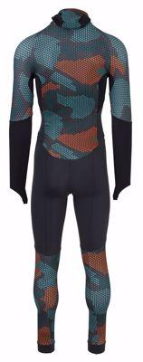 AGU Lycra schaatspak met cap Hexa Camo Green/Orange/Iron Grey