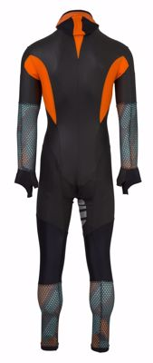 AGU Powerstretch schaatspak Hexa Camo Green/Orange/Iron Grey
