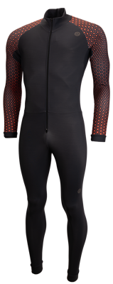 AGU Marathon Thermosuit dark grey arm print orange