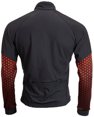 AGU Thermo schaatsjack darkgrey/orange met windstopper