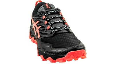 Asics FujiTrabuco 8 Black/Sunrise red