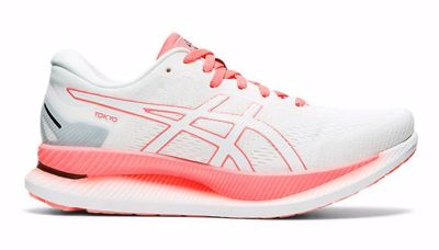 Asics GlideRide Toko White/Sunrise Red