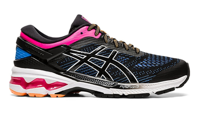 Asics Kayano 26 black/blue coast