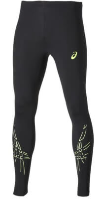 Asics Stripe Tight 121332-0392 Heren Black Yellow