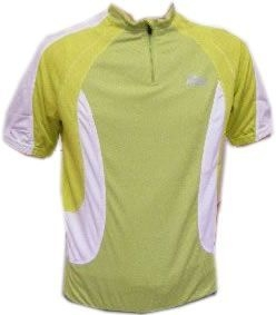 Rogelli Madrid Shirt Short Sleeve Green/light Green/White