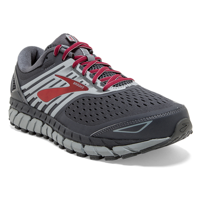 Brooks Beast 18 dark grey/red