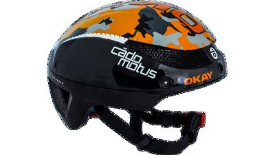 Cádomotus Omega aero helm Oranje/camouflage