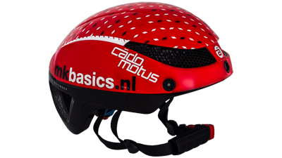 Cádomotus Omega aero helm red  dots black & white
