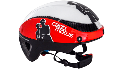 Cádomotus Omega aero helm white/red & black
