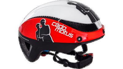 Cádomotus Omega aero helm white/red & black