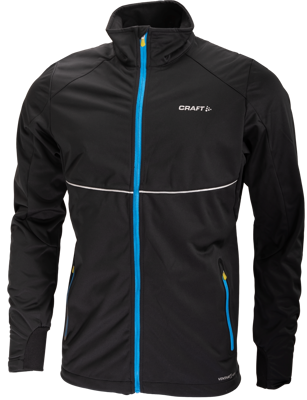 Craft PXC softshell Jacket  black/ iron (blue)