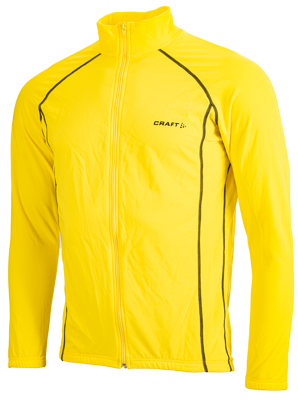 Craft Thermo bike- skatejacket yellow