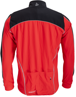 Craft Thermo Jack windstopper zwart/rood