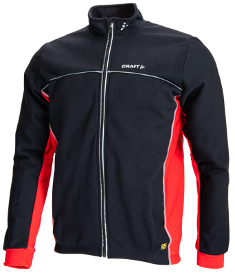 Craft Thermo Jack windstopper black/ rood