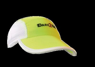 Dare2Tri Venti runningcap fluo yellow/white