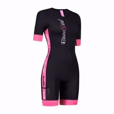 Dare2Tri Woman's Coolmax tri-suit Black-pink