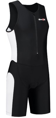 Dare2Tri Men's tri-suit frontzip black/white