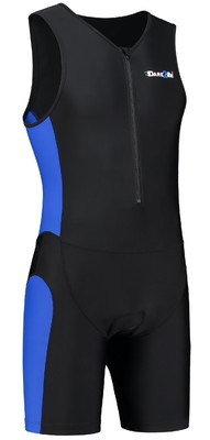 Dare2Tri Men's tri-suit frontzip black/blue