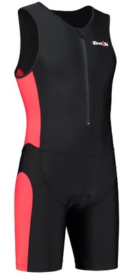 Dare2Tri Men's tri-suit frontzip black/red
