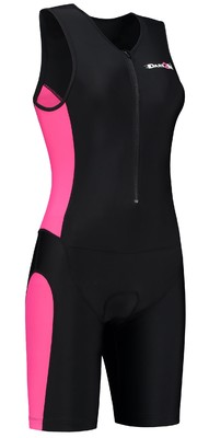 Dames Triathlonpak zwart/rose