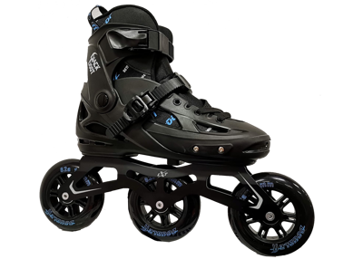 DoubleFF Black Boot G1 adjustable skate