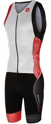 Castelli Free Sanremo Tri Suit Sleeveless Men White/red