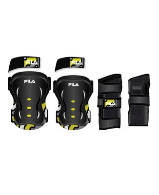 Fila Protection set Kids Black Neon Lime