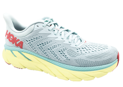 Hoka One One Clifton 7 Morning Mist / Hot Coral