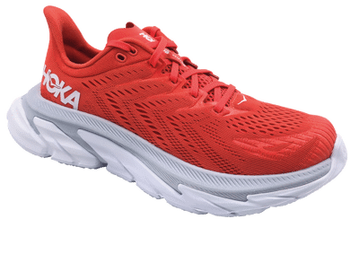 Hoka One One Clifton Edge Hot Coral / White