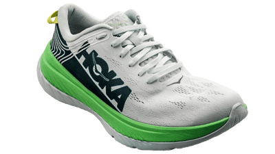 Hoka One One Men's CARBON X -  Green Ash / White