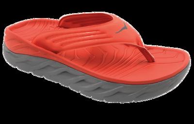 Hoka One One Men's Ora recovery flip - herstel slippers - Mandarin Red / Wild Dove