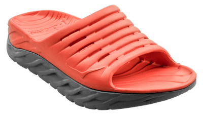 Hoka One One Men's Ora recovery slide - herstel slippers - Mandarin Red / Wild Dove