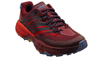 Hoka One One Speedgoat 4 Cordovan / High Risk Red