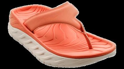 Hoka One One Women's Ora recovery flip - herstel slippers - Lantana / Pink salt