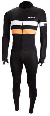Hunter Speedsuit RTR lycra met cap Retro Black Orange