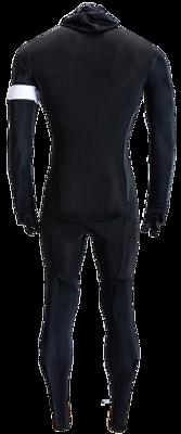 Hunter Speedsuit RTR lycra met cap Retro Black Orange