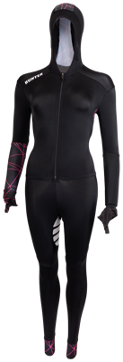 Hunter speedsuit lycra pink-lines